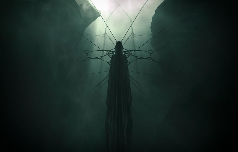 Photo wallpaper Fantasy, Ghost, Art, Cloak, 25m42, In the bright dark