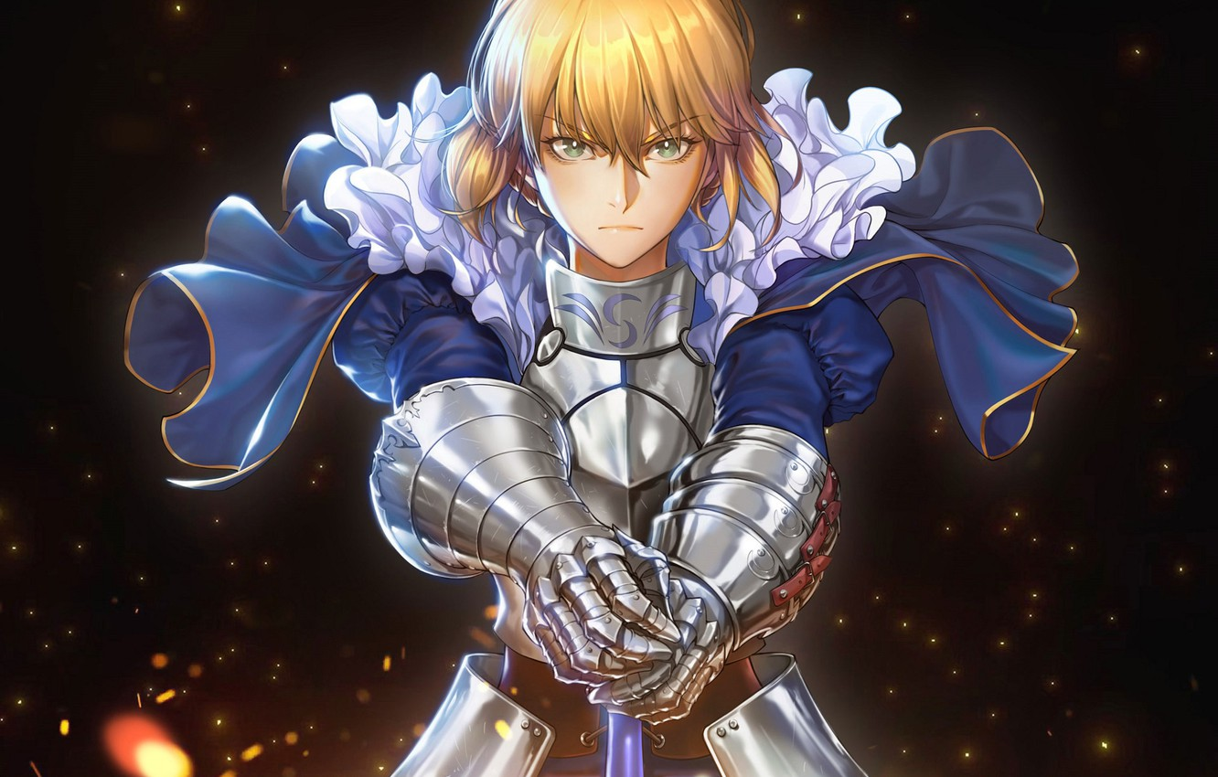 Photo wallpaper look, knight, the saber, Fate stay night, Fate / Stay Night