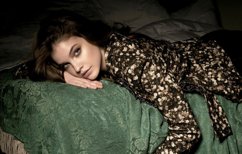 Photo wallpaper look, girl, model, bed, Barbara Palvin