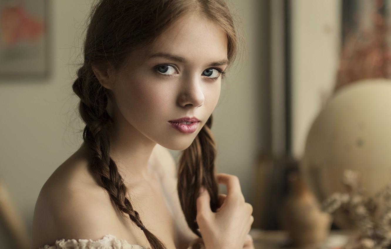 Photo wallpaper look, girl, braids, Lolita, Vyacheslav Shcherbakov