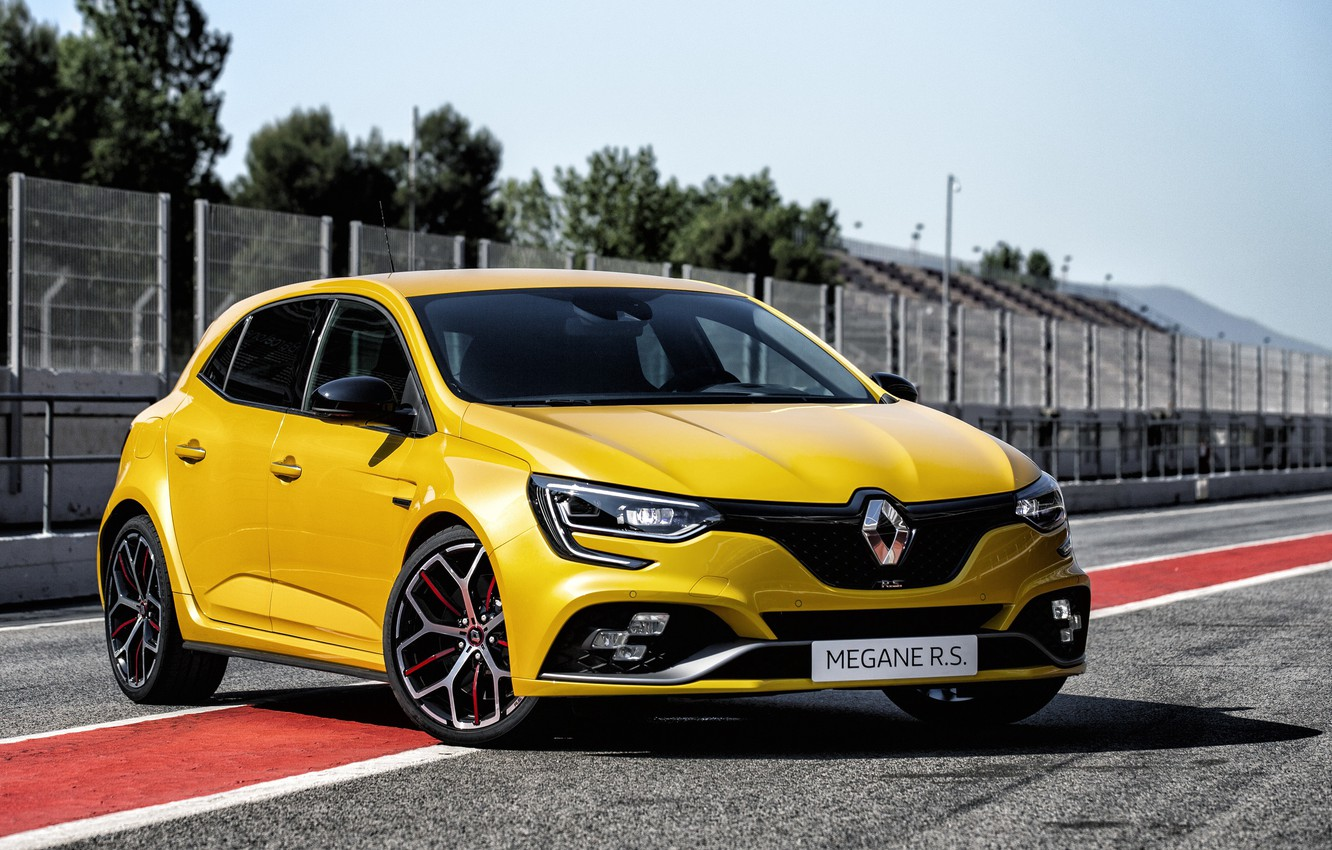Photo wallpaper Renault, hatchback, 2018, Trophy, Megane RS