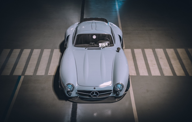 Photo wallpaper Auto, Machine, Mercedes, Render, Style, Supercar, 300SL, Retro, Supercar, Sports car, Sportcar, Mercedes-Benz 300SL, Khyzyl …