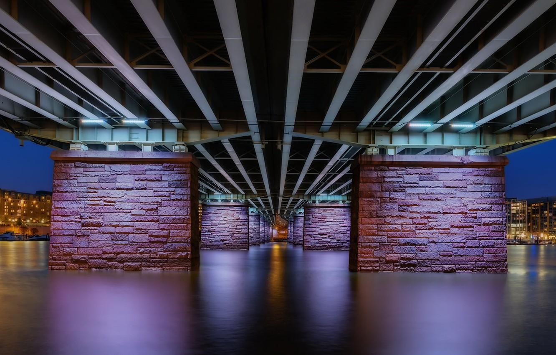 Photo wallpaper bridge, the city, Washington, Francis Case Memorial Bridge