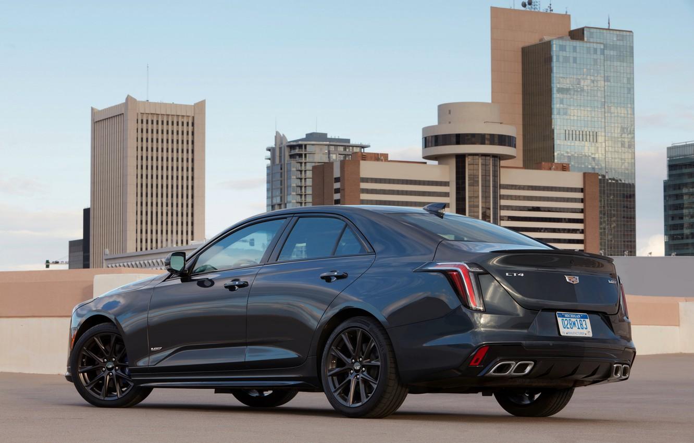 Photo wallpaper roof, Cadillac, home, sedan, four-door, 2020, CT4-V