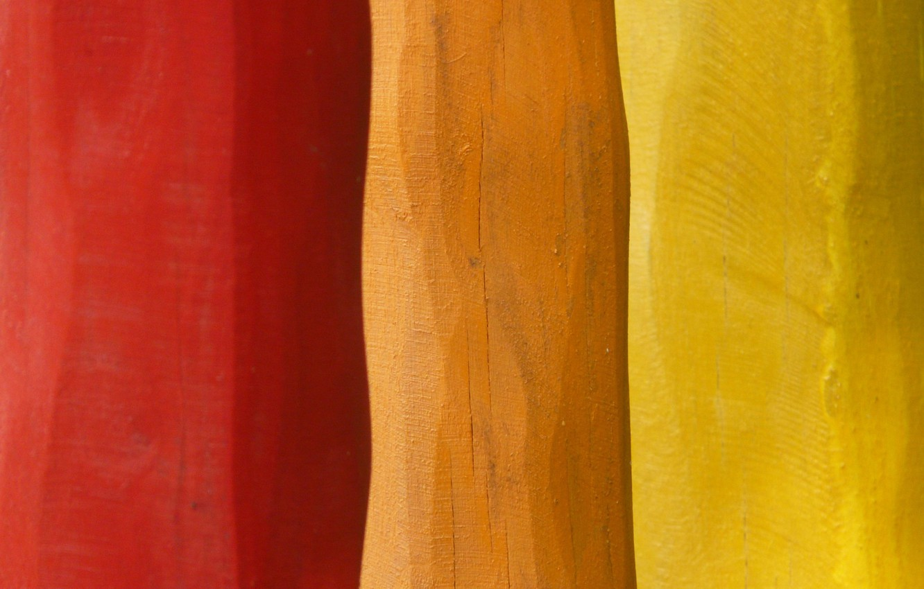 Photo wallpaper colors, colorful, red, yellow, wood, orange, textures, paint, boards, 4k hd background