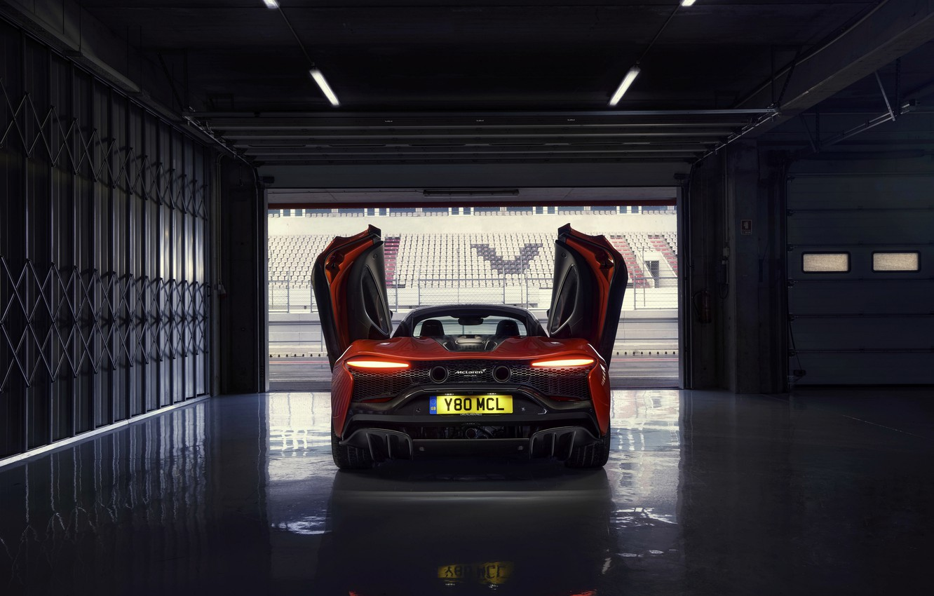 Photo wallpaper McLaren, door, lights, Boxing, back, 3.0 l, 2021, Artura, V6 twinturbo