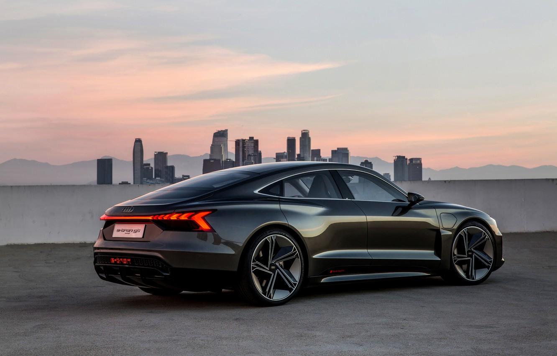 Photo wallpaper roof, Audi, coupe, 2018, e-tron GT Concept, the four-door