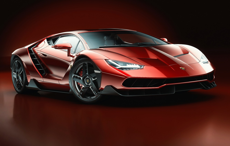Photo wallpaper Red, Auto, Lamborghini, Machine, Red, Car, Art, Render, Design, Supercar, Supercar, Sports car, Sportcar, Dark …