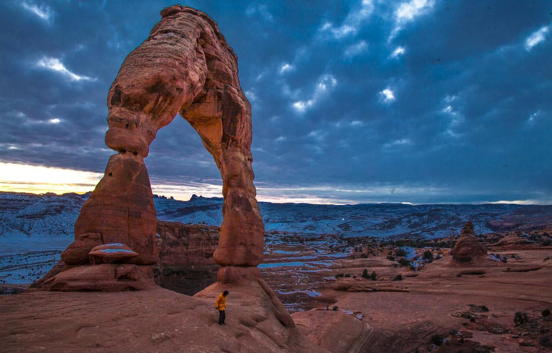 Photo wallpaper sunset, rocks, erosion, great canyon