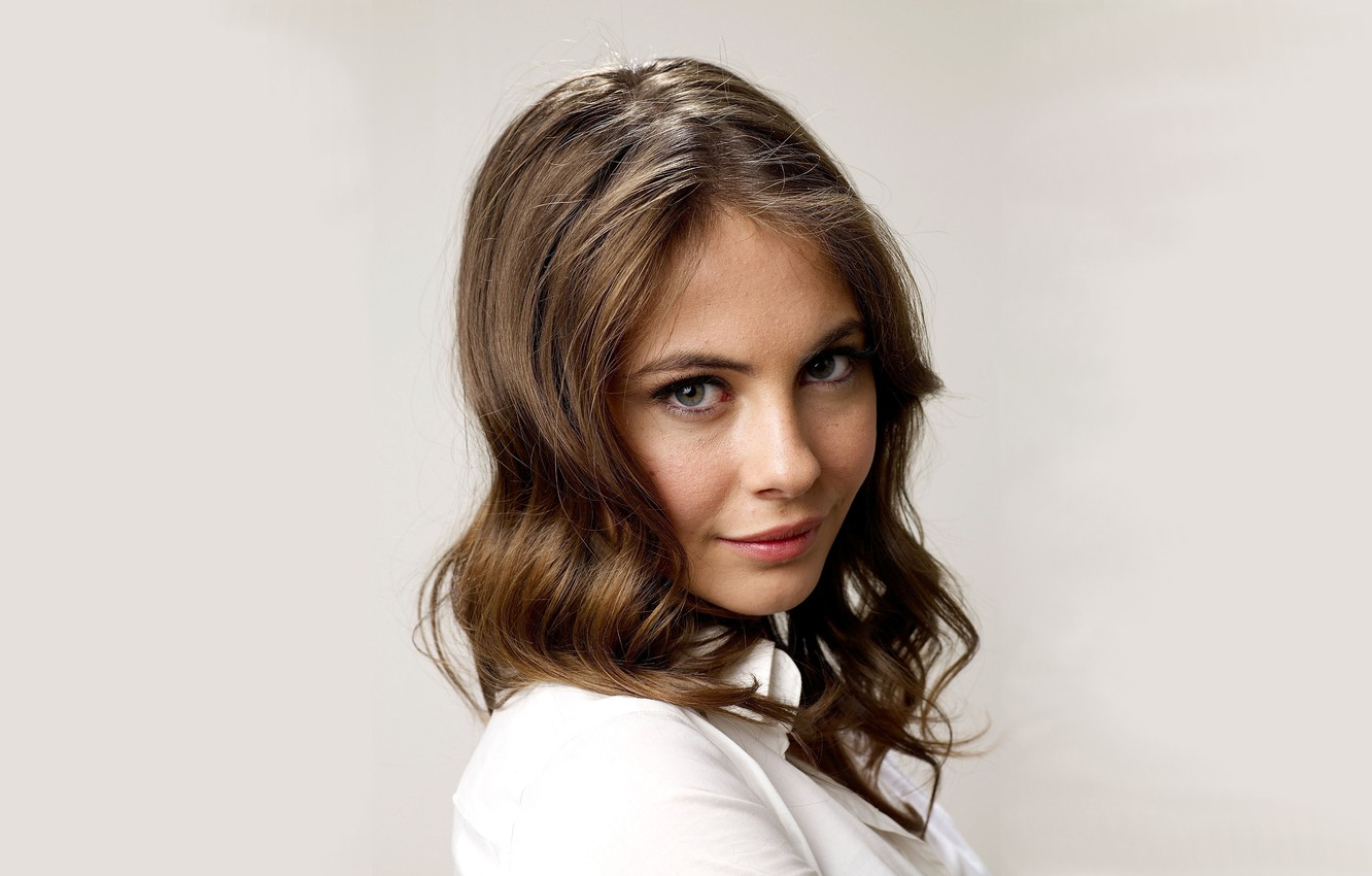 Photo wallpaper look, background, model, portrait, makeup, hairstyle, blouse, brown hair, beauty, in white, Willa Holland