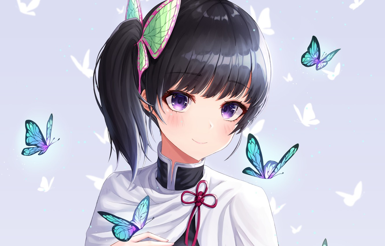 Photo wallpaper girl, butterfly, The Blade Cleaves Demons, Kanao Tsuyuri