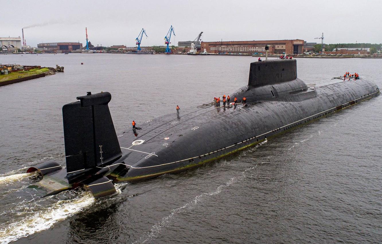 Photo wallpaper boat, Shark, the project, cruiser, underwater, heavy, atomic, rocket, purpose, project, atomic, strategic, 941