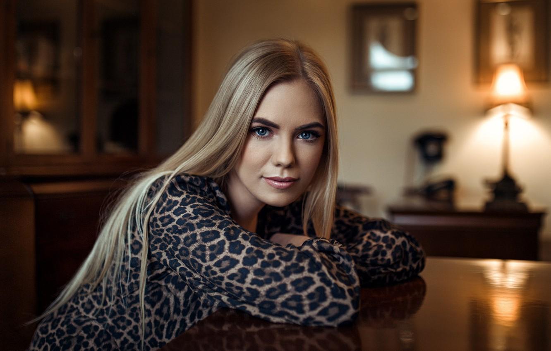 Photo wallpaper look, pose, hair, Girl, blonde, sitting, Andrew Stankūnas