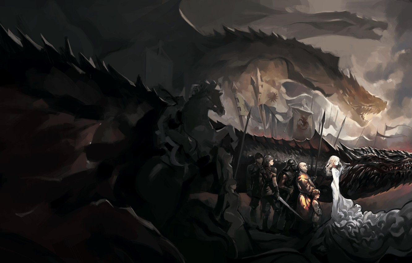 Wallpaper Game Of Thrones Daenerys Targaryen Dragons Tyrion
