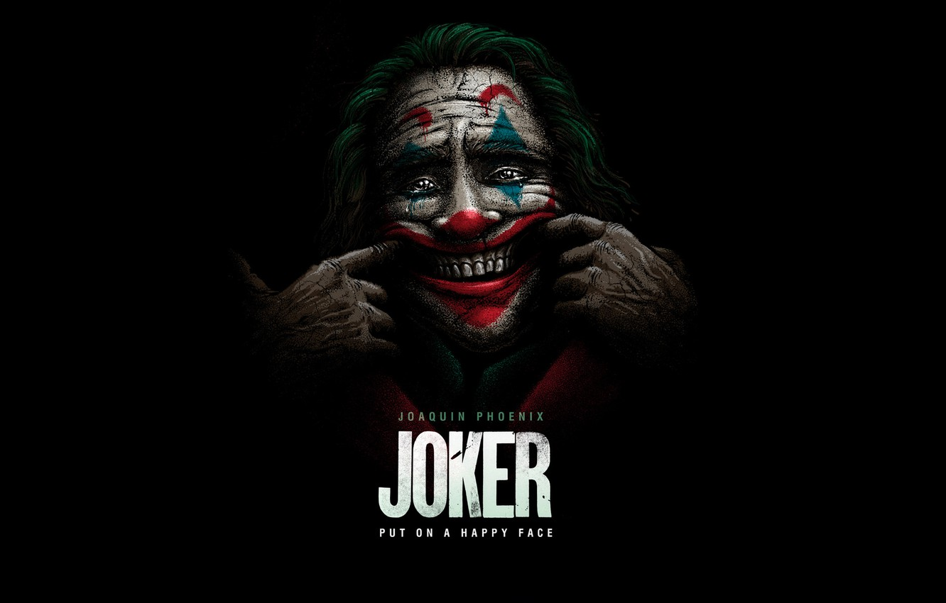 Photo wallpaper smile, clown, Joker, Joker, Joaquin Phoenix