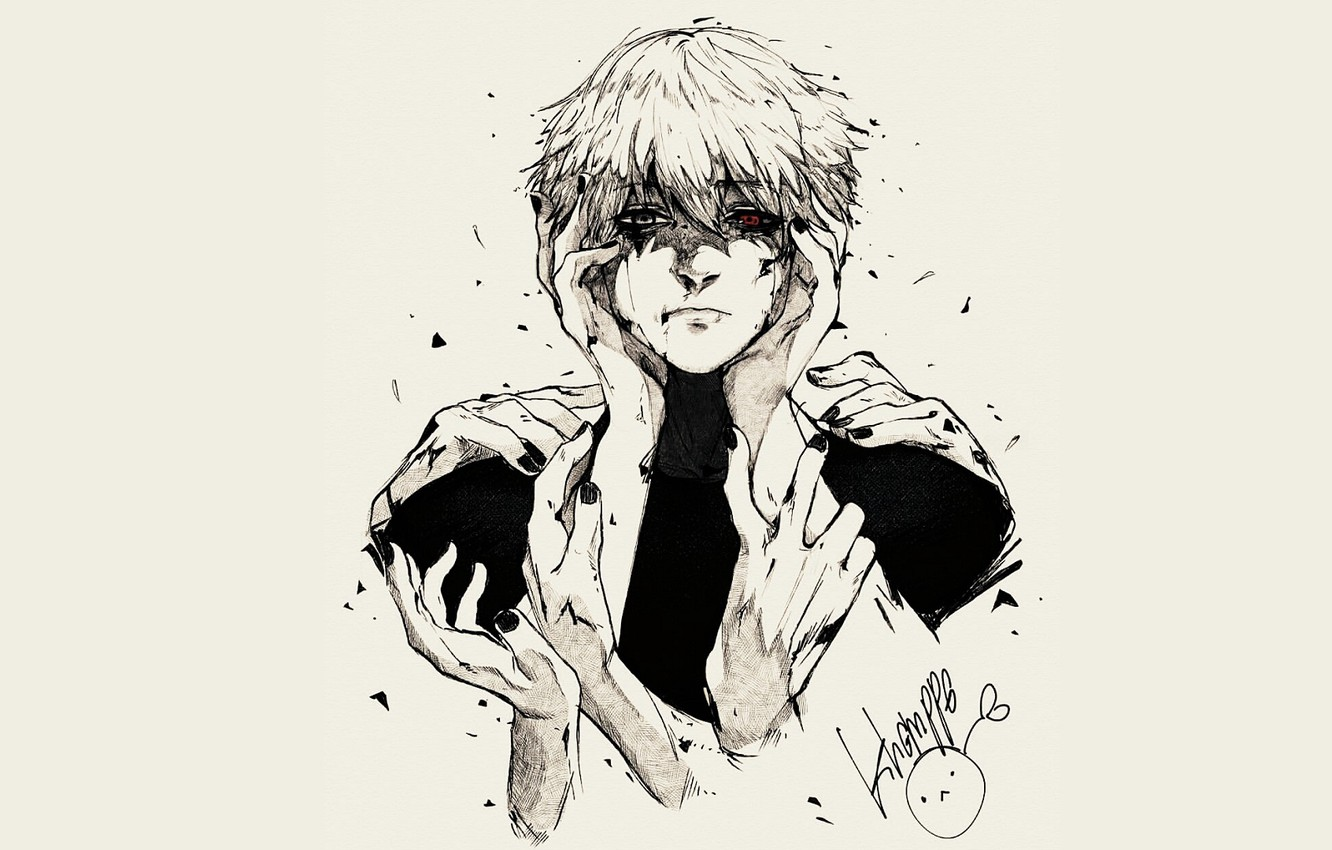 Photo wallpaper background, guy, Tokyo ghoul