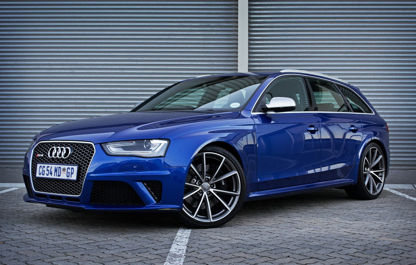 Photo wallpaper Audi, Blue, RS 4, Before