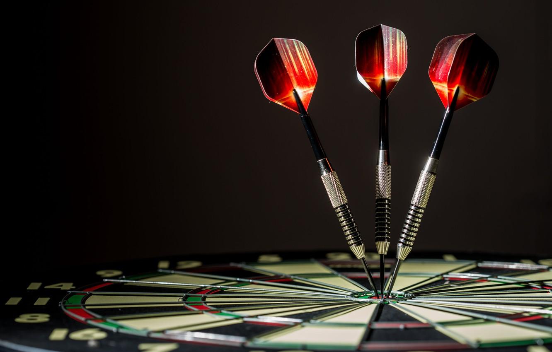 Photo wallpaper metal, aiming, darts