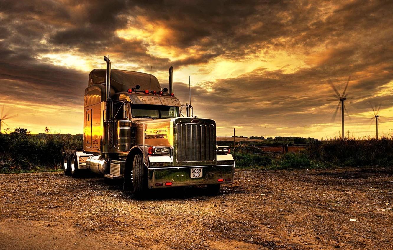 Photo wallpaper truck, tractor, Kenworth, transport, trailer, SEMI, Kenworth, truck