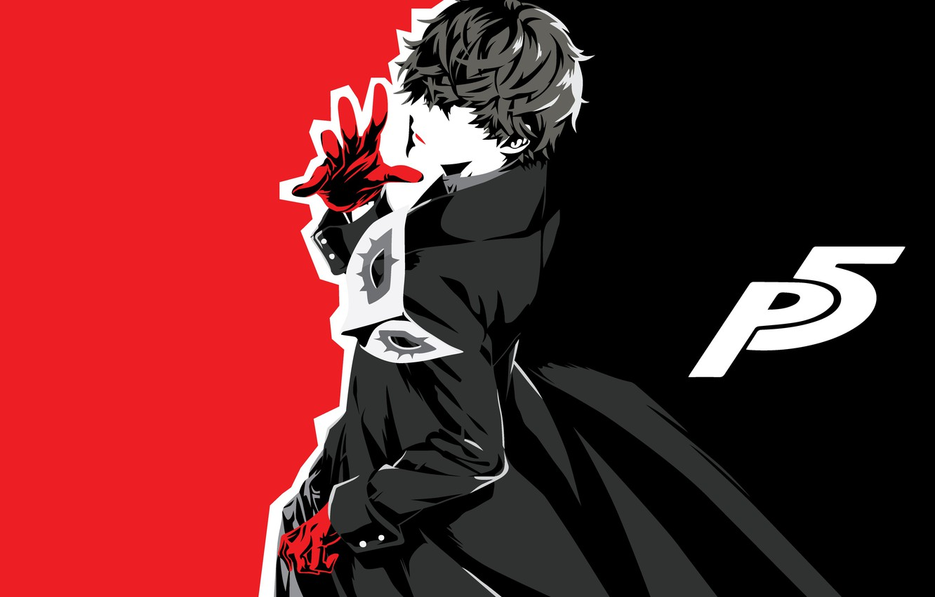Wallpaper Joker, guy, monochrome, Person 5, Persona 5 images