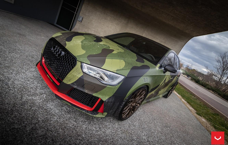 Photo wallpaper Audi, Hybrid, Forged, Series, Sportback, RS3