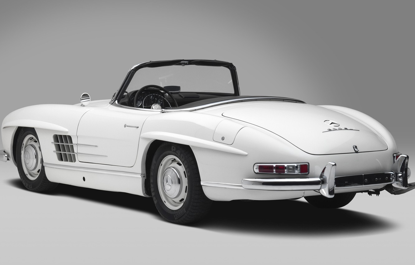 Photo wallpaper White, Classic Car, Mersedes Benz 300SL