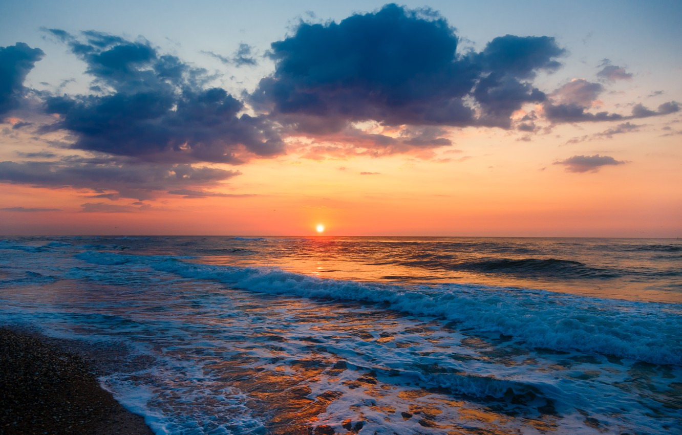 Wallpaper Sea Beach Sunset Beach Sea Sunset Seascape