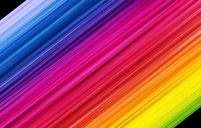 Photo wallpaper strip, colorful, rainbow
