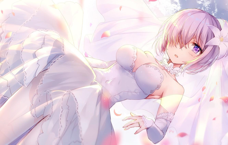 Photo wallpaper Girl, The bride, Fate / Grand Order, The destiny of a great campaign