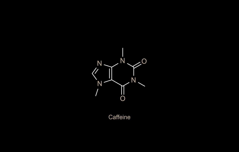 Photo wallpaper minimalism, oxygen, chemistry, black background, science, simple background, nitrogen, Caffeine, chemical structures