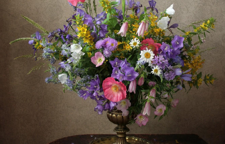 Photo wallpaper summer, Mac, bouquet, Daisy, bell