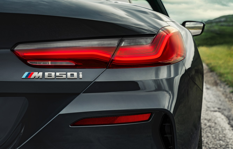 Photo wallpaper headlight, BMW, convertible, xDrive, G14, 8-series, 2019, Eight, M850i Convertible