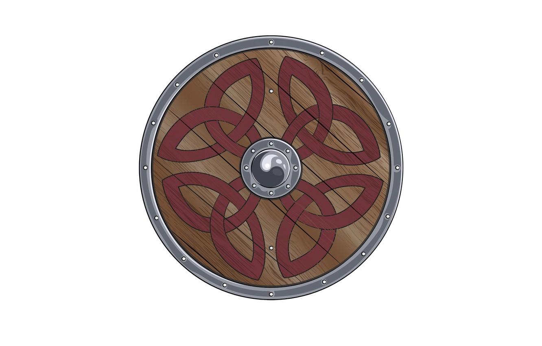 Photo wallpaper patterns, shield, the Vikings