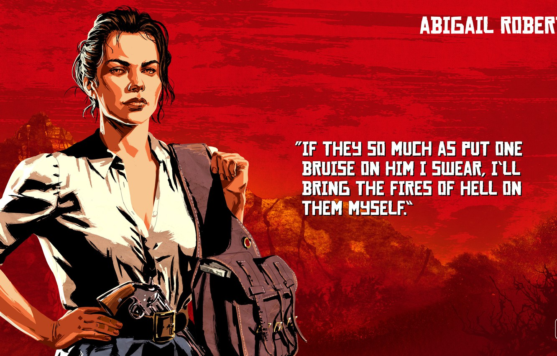 Wallpaper Girl Weapons Art Red Dead Redemption 2 Abigail