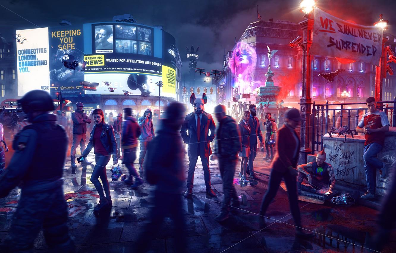 Photo wallpaper Ubisoft, Legion, Watch Dogs, Watch Dogs: Legion