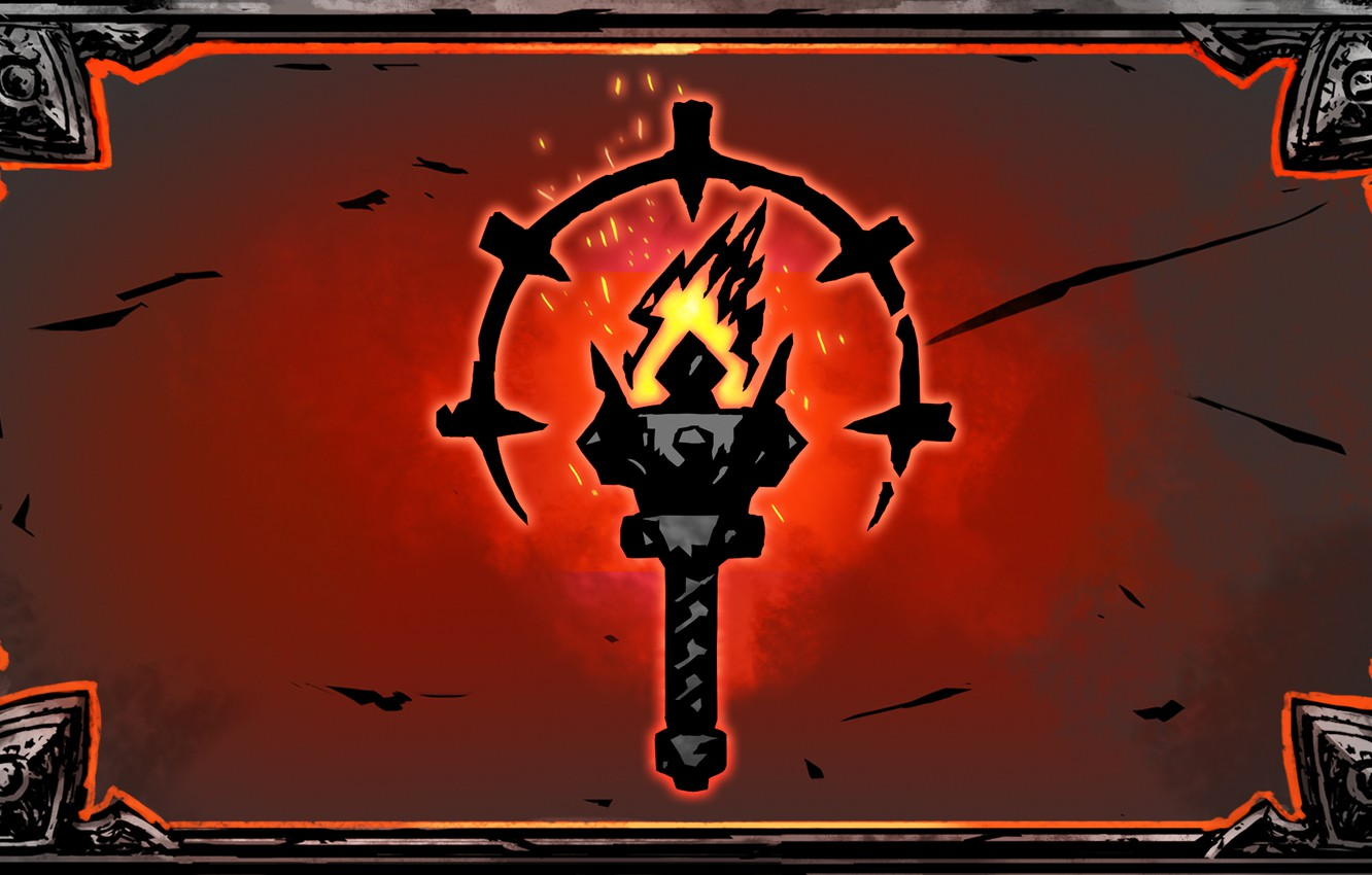 Photo wallpaper Torch, Darkest Dungeon, A Red Hook Studios