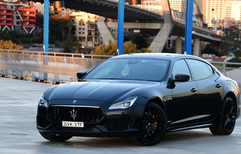 Photo wallpaper Maserati, Quattroporte, the evening, 2018, GTS, AU-spec, GranSport, Nerissimo Edition