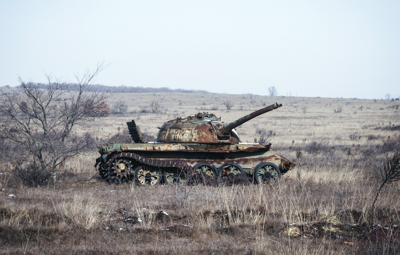 Photo wallpaper weapons, tank, Make love - not war