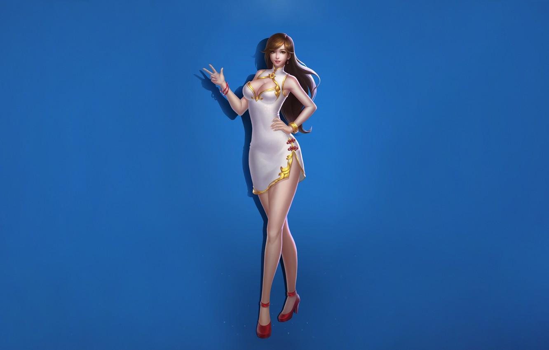 Photo wallpaper Girl, Art, Style, Background, Illustration, Minimalism, Dress, Character