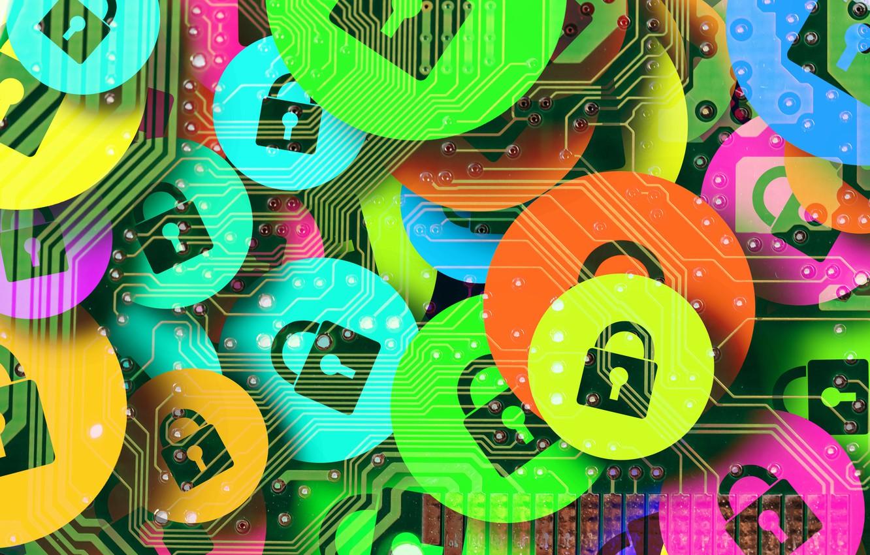 Photo wallpaper Internet, security, passwords