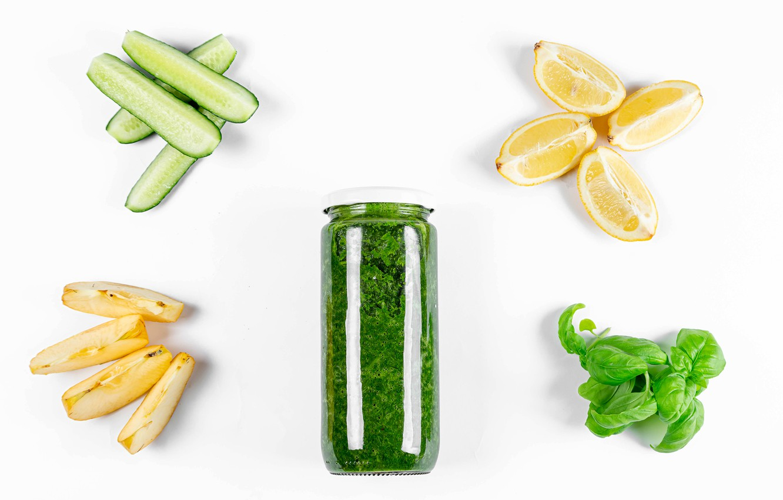 Photo wallpaper greens, lemon, apples, Bank, cucumbers