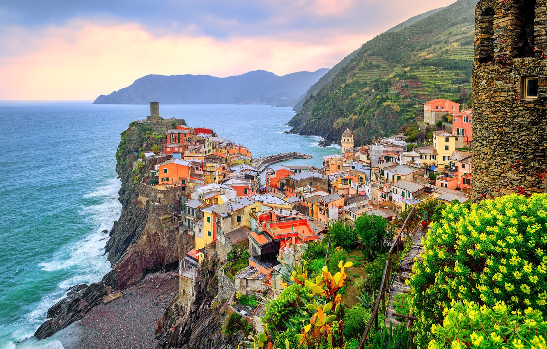 Photo wallpaper sea, home, Italy, Vernazza