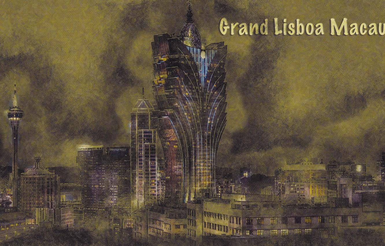 Photo wallpaper the city, art, Grand Lisboa Makao China