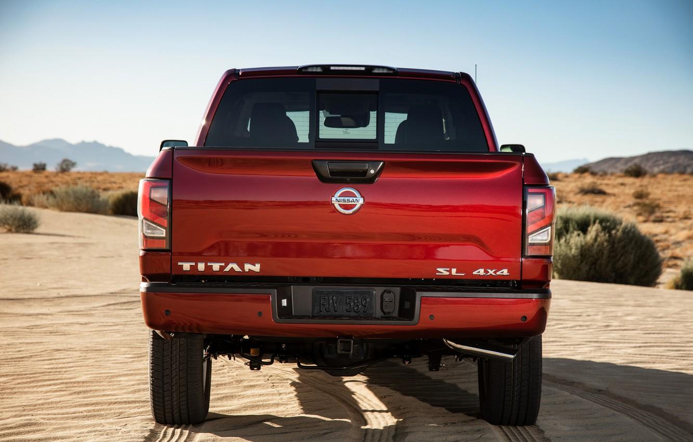 Photo wallpaper Nissan, pickup, 4x4, feed, Titan, 2020, V8, Titan SL