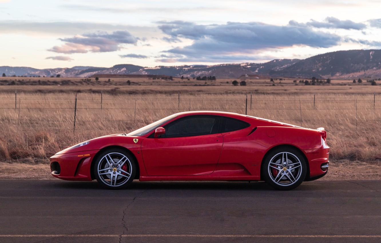 Photo wallpaper red, supercar, Ferrari F430, sports car, side view