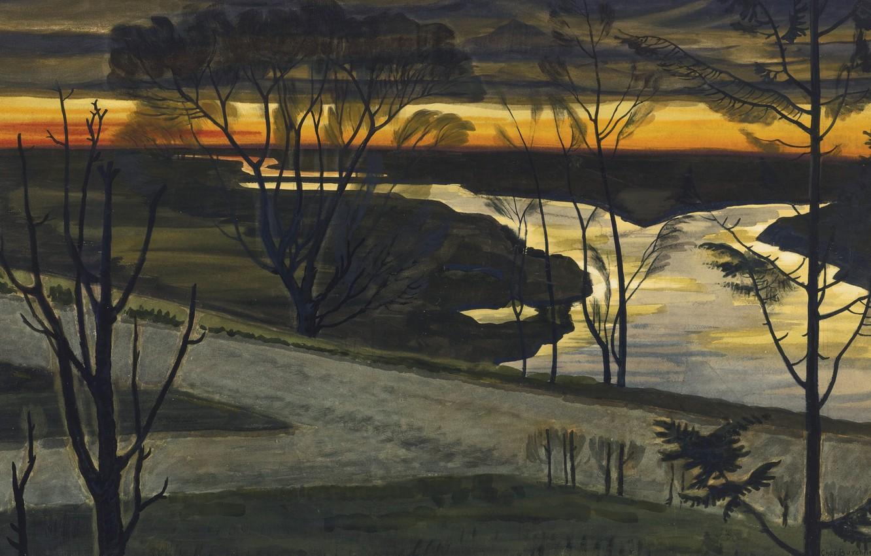 Photo wallpaper 1926, Charles Ephraim Burchfield, November Dawn
