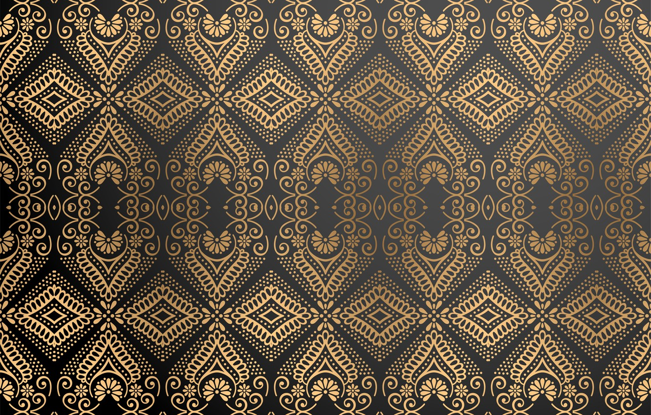 Photo wallpaper pattern, gold, ornament, color, Luxury, ornamental