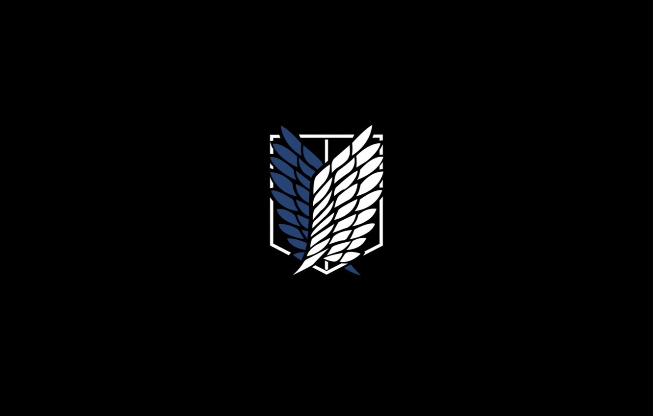 Photo wallpaper Attack on Titan, razvedchicy, the emblem of the Legion, Attack on titans, mark of the …