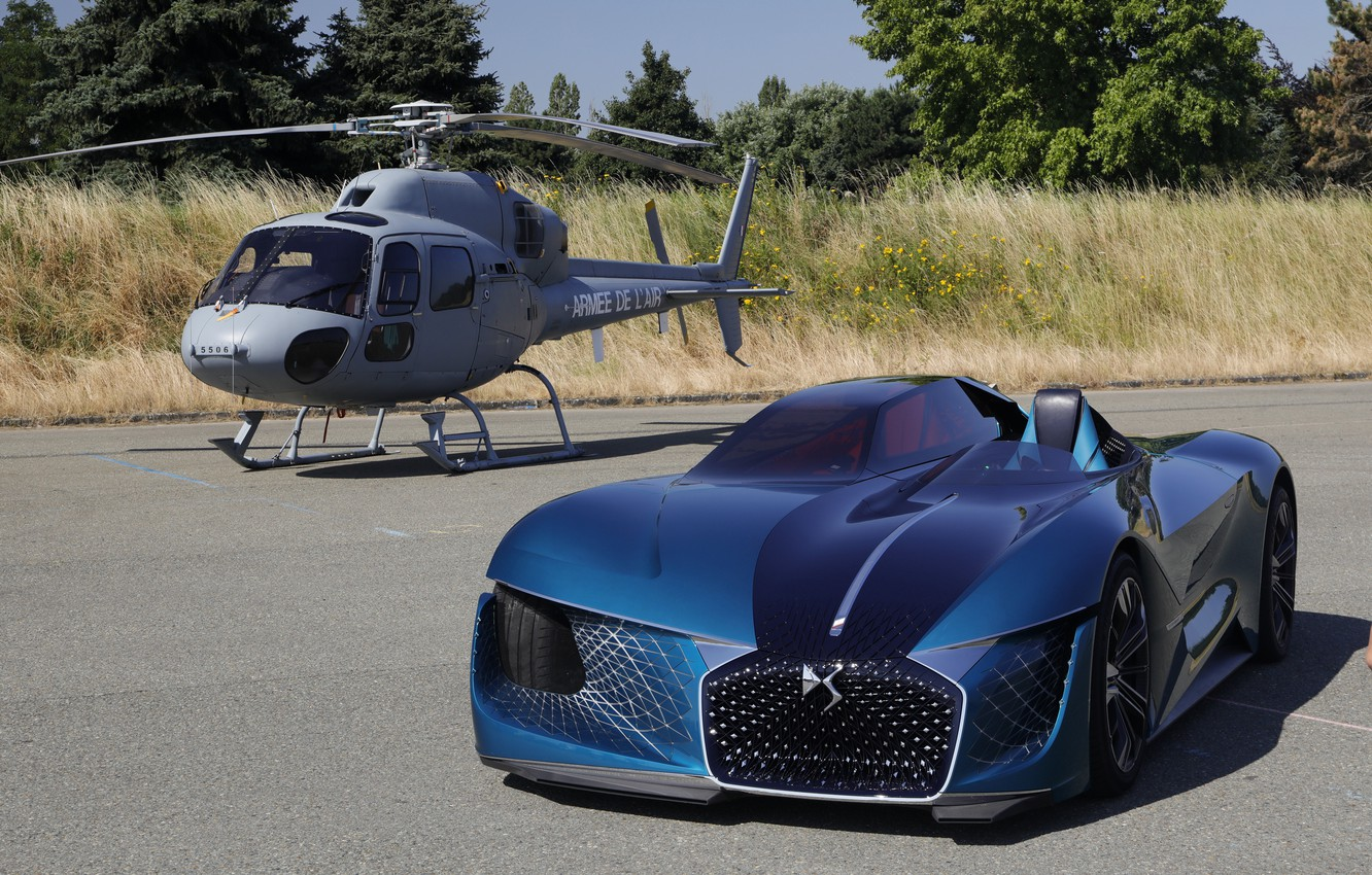 Photo wallpaper Concept, helicopter, 2018, electric, And-Tense, DS X, DS Motor