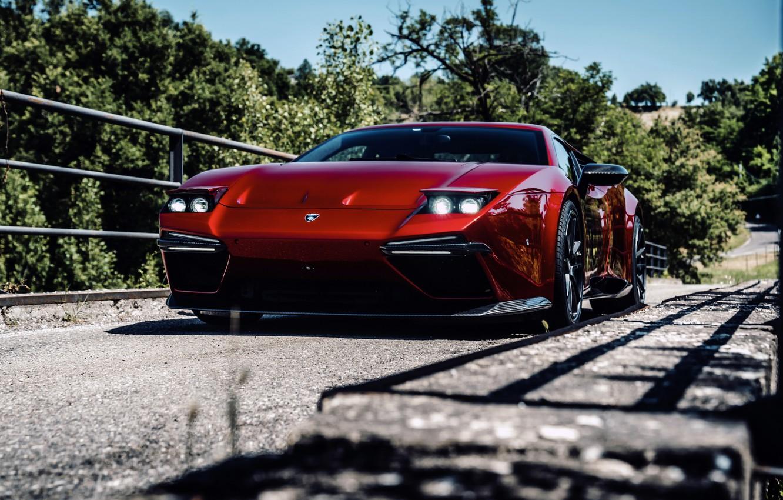 Photo wallpaper bridge, lights, coupe, V10, De Tomaso Pantera, Hurricane, Lamborghini Huracan, 2020, two-door, Project1, Panther ProgettoUno, …